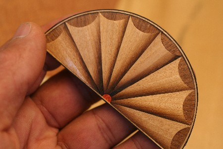 Wood Fan Inlay