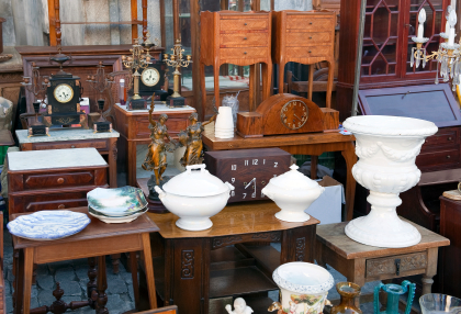 Superb Furniture Items At An Auction.