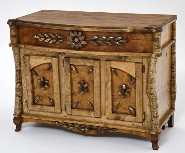 Birch Bark Furniture Console