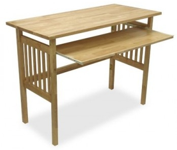 Simple styled solid beech wood desk.
