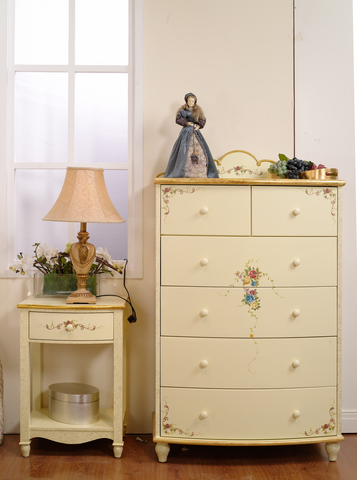Painted children furniture- dresser and nightstand.