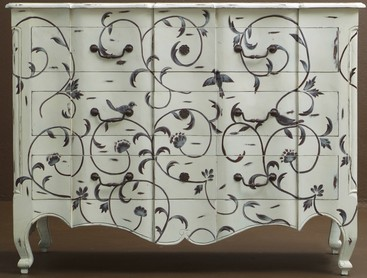 stenciling furniture ideas. A Dresser That Is Painted And Stenciled For Unique Look. Stenciling Furniture Ideas
