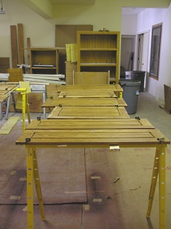 A space for refinishing furniture.