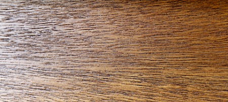 Close-up of unfilled Oak wood grain.