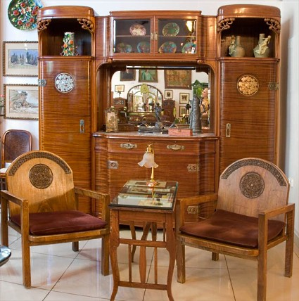 Grouping of Art Nouveau Furniture