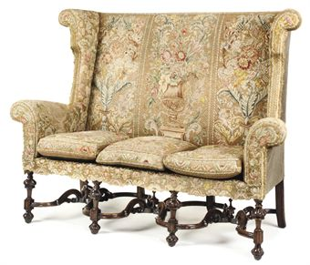 William and Mary Style Settee