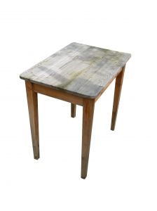 Worn modern style table.