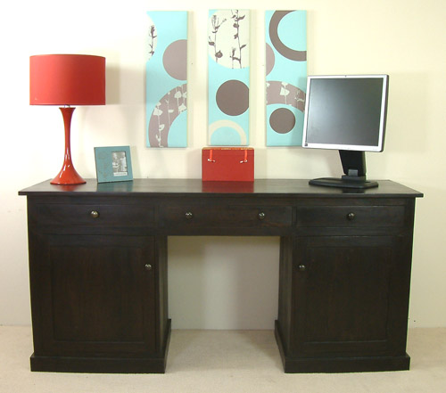 Ebonized Ash Wood Desk