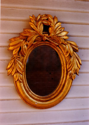 Carved Basswood Mirror