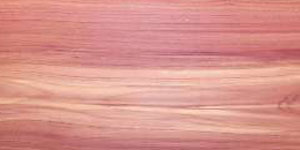 Sample board of Red Cedar wood.