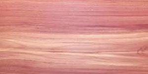 Sample board of Red Cedar wood.