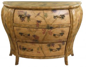 Hand painted chest of drawers.