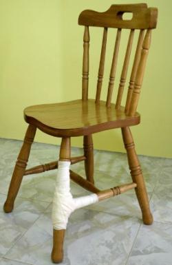 Mended Chair- repair gone wrong!